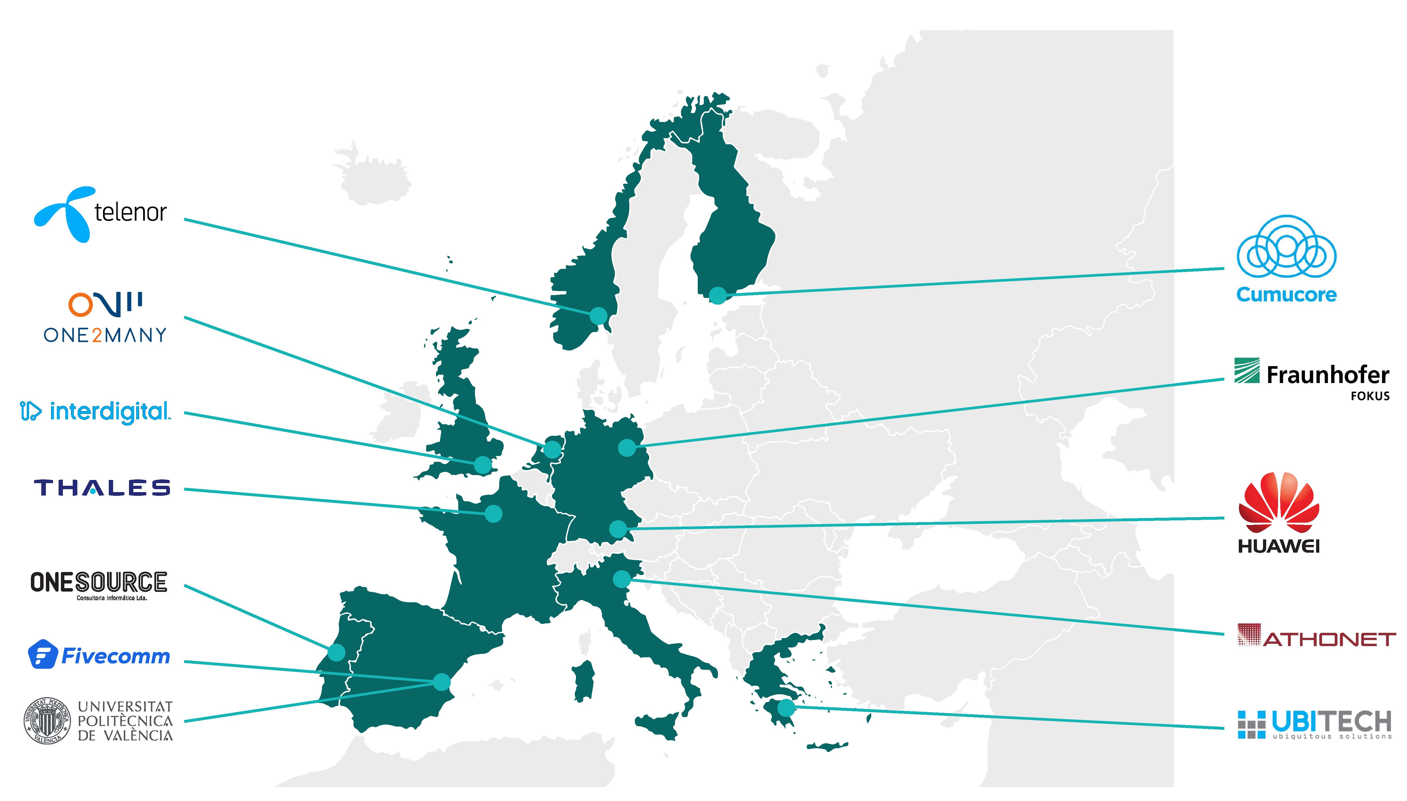 fudge-5g consortium map